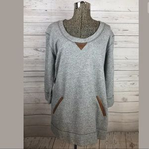 Soft surroundings size small sweatshirt gray